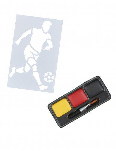 Deutschland-Make-up mit Schablone Fussball-Motiv 5-teilig schwarz-rot-gelb 4,5g