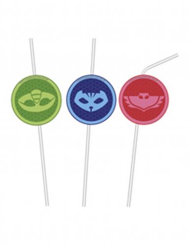 PJ Masks™-Strohhalme Kinderparty-Tischdeko 6 Stück bunt