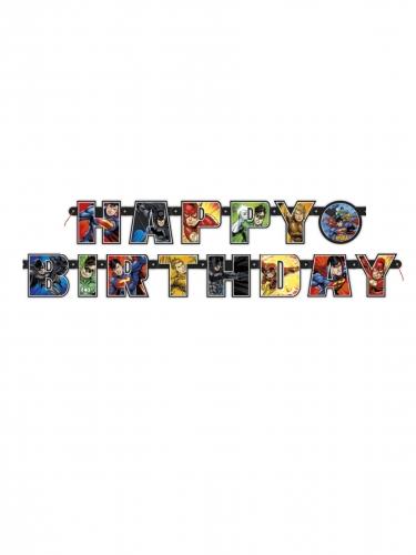 Justice League™-Geburtstagsgirlande Happy Birthday bunt 182cm