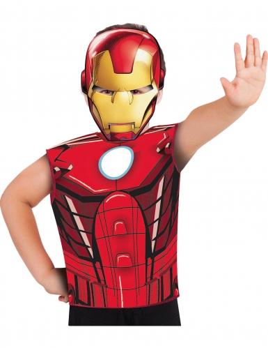 Iron Man Kostüm-Set für Kinder mit Shirt und Maske