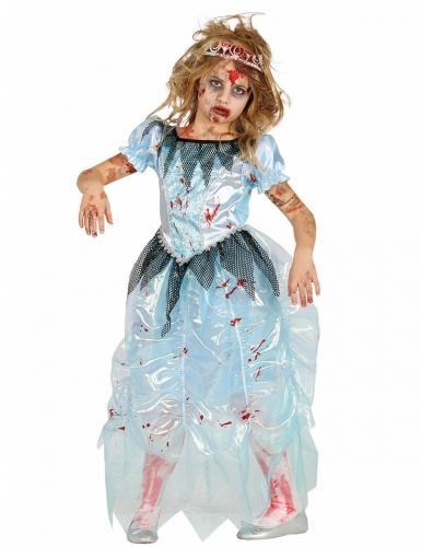 Zombie-Prinzessin Kostüm für Mädchen Halloween blau