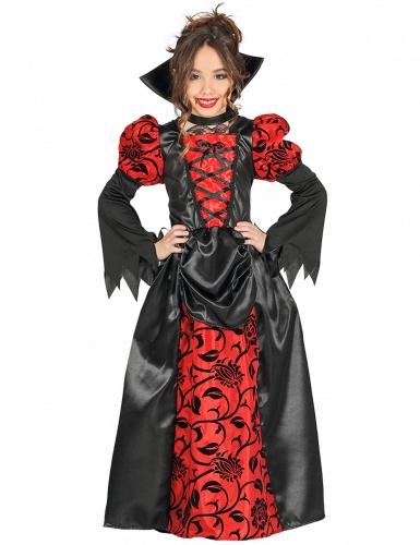 Vampirgräfin-Kostüm für Kinder Halloween schwarz-rot