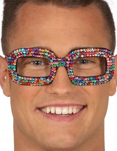 Glitzer-Brille Accessoire bunt