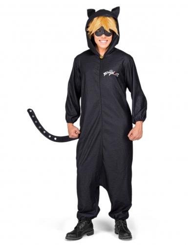 Cat Noir™-Overall Miraculous™-Herrenkostüm schwarz