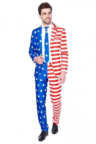Mr. USA Herrenanzug von Suitmeister™ blau-weiss-rot