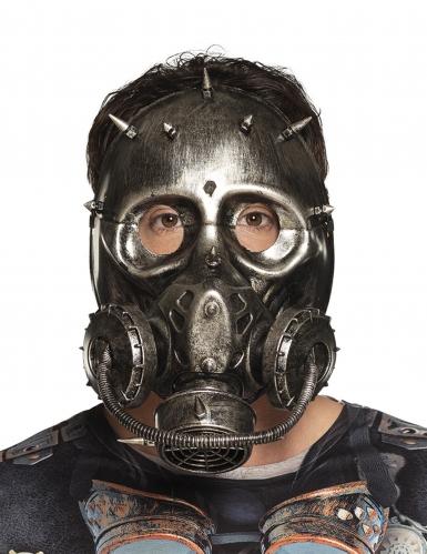 Steampunk-Maske Gasmaske schwarz