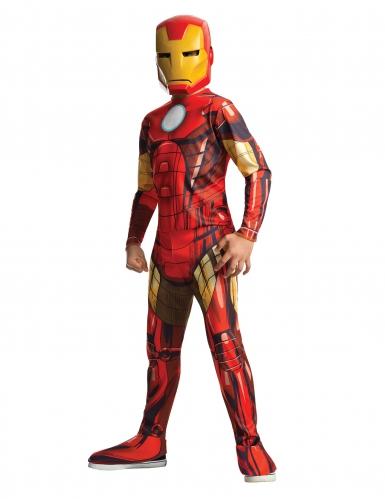 Iron Man™-Kostüm für Kinder Karneval rot-gelb