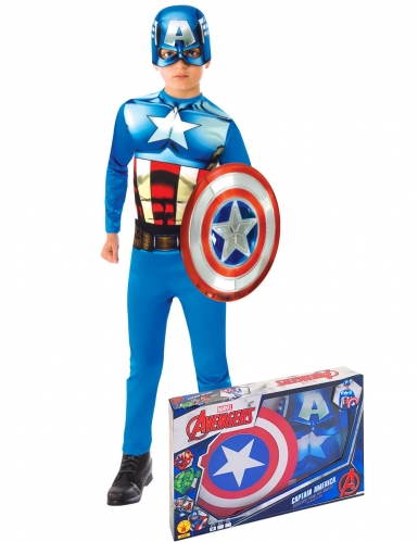 Captain America™-Kinderkostüm blau-weiss-rot