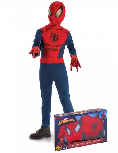 Klassischer Spider Man™ Kinder-Lizenzkostüm blau-rot-schwarz