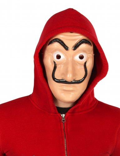 Räuber-Maske Bankräuber-Halbmaske beige