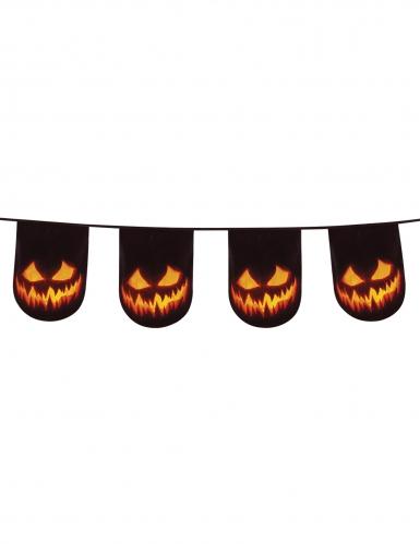 Kürbisgirlande Halloween-Dekoration schwarz-orange 6m