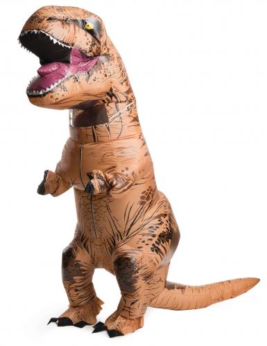 Aufblasbares Tyrannosaurus-Kostüm Jurassic World™-Lizenzkostüm für Erwachsene orange
