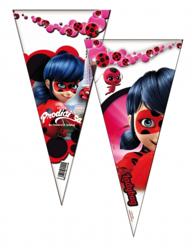 Ladybug™-Geschenktüten Miraculous™-Süssigkeitenbeutel bunt 6 Stück 20x40cm