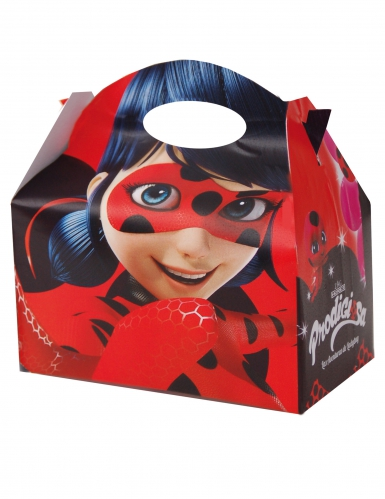Ladybug™-Lunchboxen Miraculous™-Fanartikel 4 Stück rot 10,5x15cm