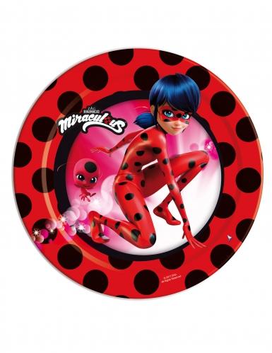 Ladybug™-Pappteller 8 Stück rot-schwarz 18cm