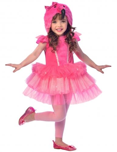 Flamingo-Kostüm für Kinder Fasching rosa