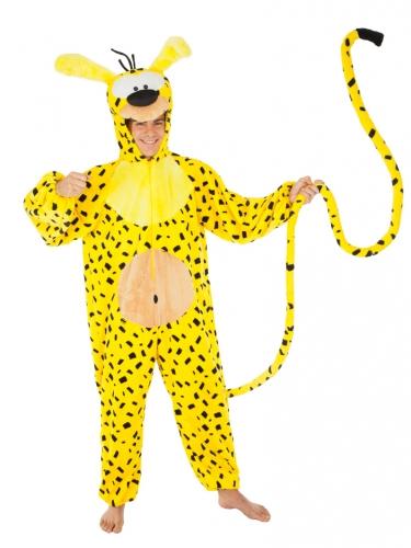 Marsupilami™-Kostüm für Erwachsene schwarz-gelb