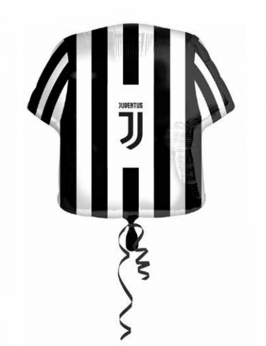 Juventus™-Aluballon Luftballon Dekoration schwarz-weiss 60cm