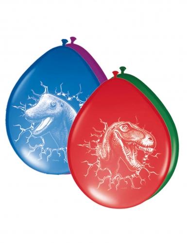 Dinosaurier-Latexballons 6 Stück bunt 30cm