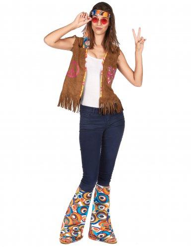 Hippie-Accessoire-Set für Damen 2-teilig bunt