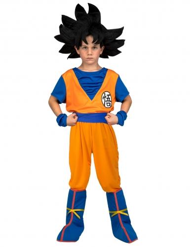 Son Goku™-Kostüm für Kinder Dragon Ball™ im Geschenkkoffer orange-blau