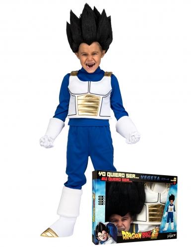 Vegeta™-Kostüm für Kinder Kostümkoffer blau-weiss-schwarz