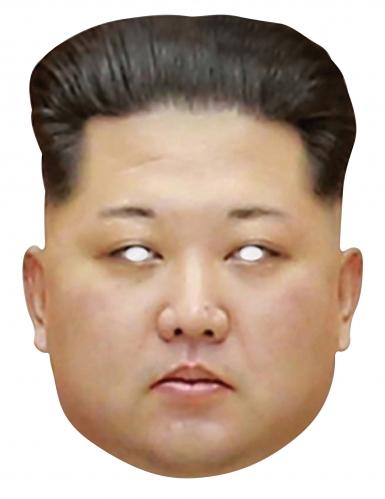 Kim Jong Un-Maske Präsidentenmaske hautfarben-schwarz