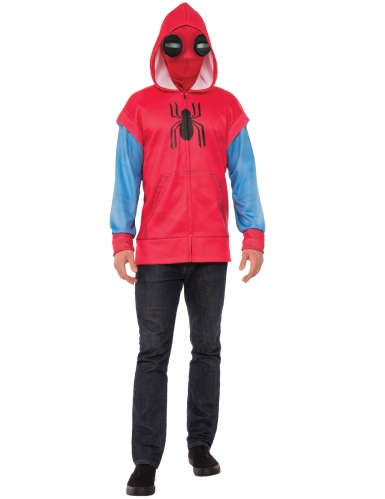 Spiderman™-Jacke mit Maske für Herren Spiderman Homecoming™ rot-blau