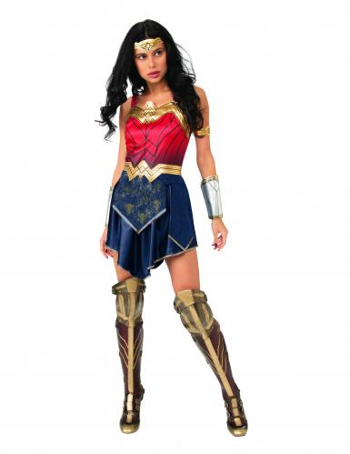 Wonder Woman™-Damenkostüm DC™ blau-rot-gold