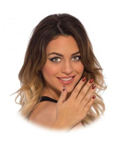 Spidergirl™-Nagelsticker für Damen Make-up rot