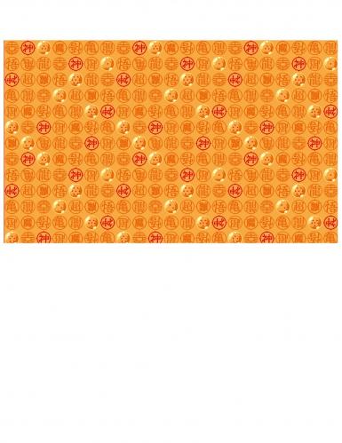 Papier-Tischdecke Dragon Ball Z™ Tischdeko orange-rot 120x180cm
