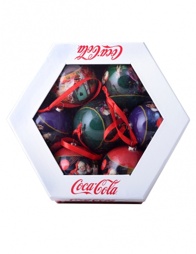 Billige Christbaumkugeln.Coca Cola Christbaumkugeln 7 Stuck In Geschenkbox Bunt 7 5cm