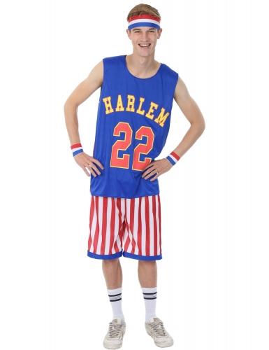 Basketballer-Kostüm für Herren Faschingskostüm blau-rot-weiss