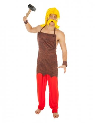 Automatix-Kostüm für Herren Asterix und Obelix™ Faschingskostüm rot-braun