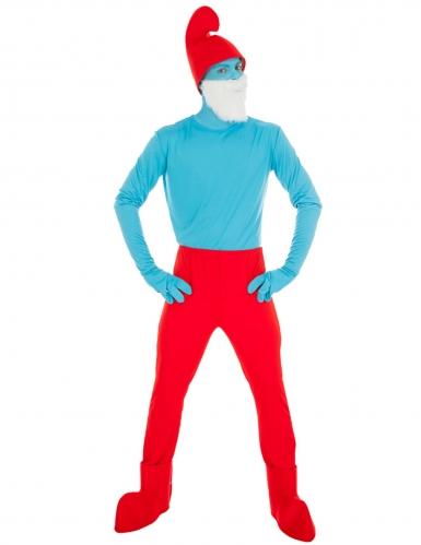 Papa Schlumpf-Kostüm Die Schlümpfe™ Faschingskostüm rot-blau