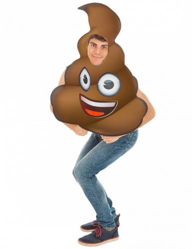Kackhaufen Emoji™-Kostüm Faschingskostüm braun
