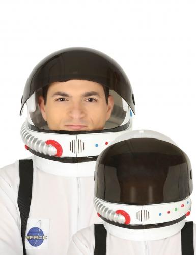 Astronauten-Helm für Erwachsene Kostümzubehör weiss