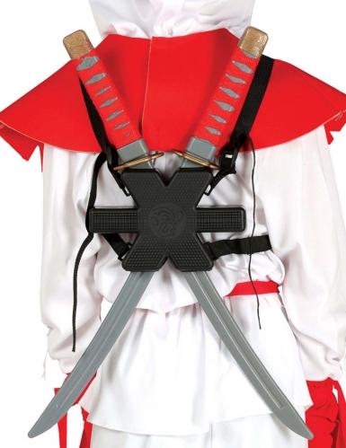 Ninja-Schwerter Samurai-Schwerter mit Träger 55cm grau-schwarz-rot