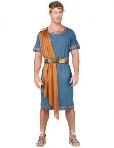 Römisches Herrscher-Kostüm für Herren Karnevalskostüm blau-braun