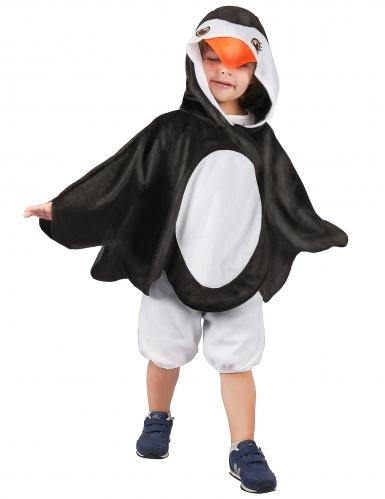 Pinguin Kinderkostüm schwarz-weiss-orange
