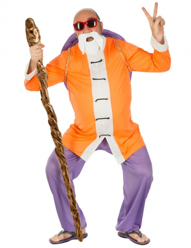 Muten Roshi-Kostüm Dragon Ball™-Lizenzkostüm Der Herr der Schildkröten orange-lila