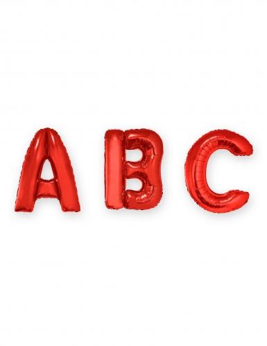 Buchstaben-Luftballon Folienballon rot 1m