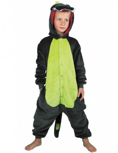 Dinosaurier-Overall für Kinder grün