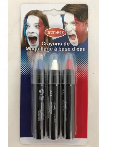 Frankreich-Schminkstifte Fussball Make-up blau-weiss-rot