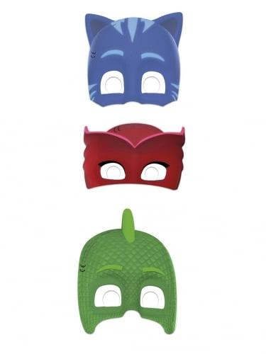 PJ Masks™-Pappmasken für Kinder Accessoire 6 Stück bunt