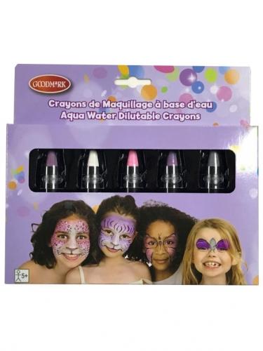 Pastell-Schminkstifte für Kinder 5 Stück bunt 2,8 g