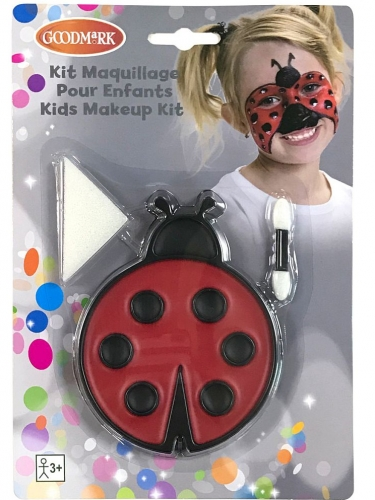 Marienkäfer-Schminkset für Kinder 3-teilig schwarz-rot 7,2 g