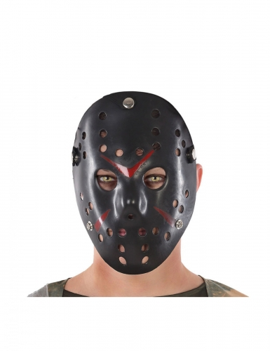 Hockey-Maske Halloween-Maske schwarz