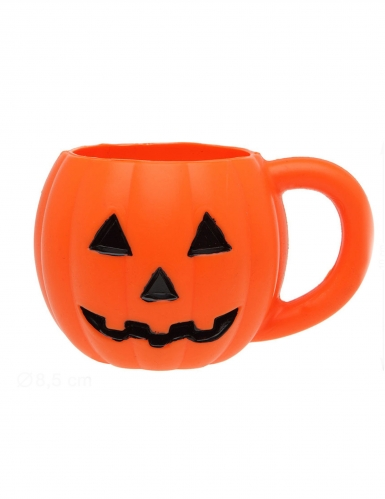 Kürbis-Tasse Halloween-Tischdeko orange 660ml