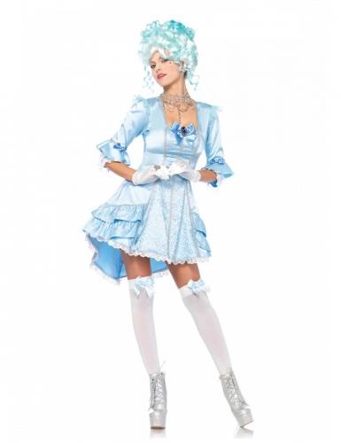 Markgräfin-Kostüm für Damen Rennaissance-Kostüm blau